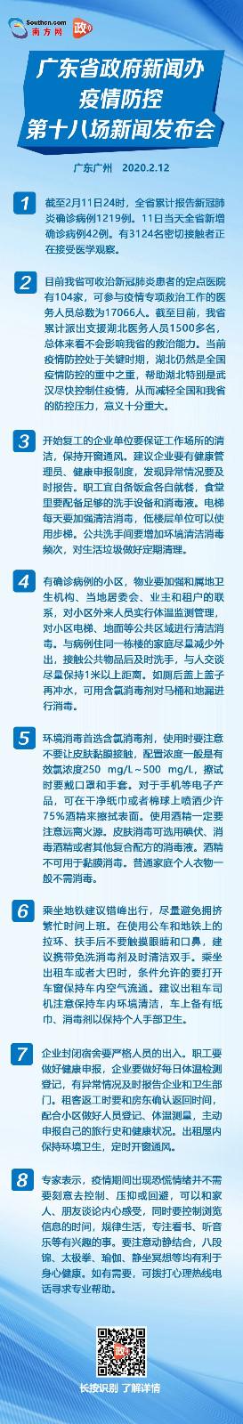 2月12日广东举行疫情防控第十八场新闻发布会